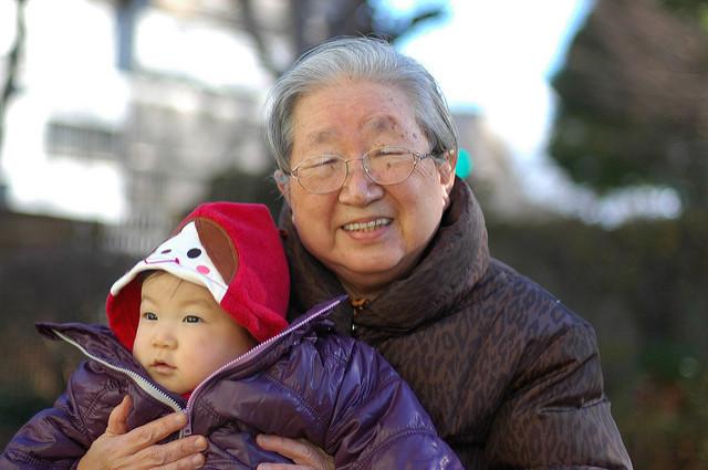 おばあちゃんと孫