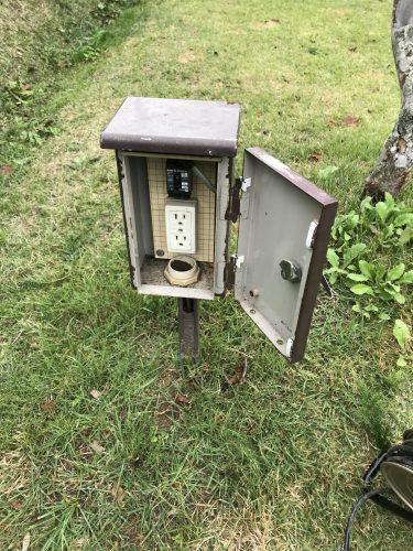 天守閣自然公園キャンプ場の電源