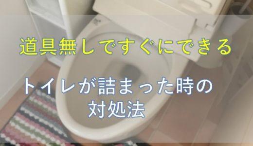 【すぐできる!】検便シートやトイレットペーパーでトイレがつまった時の対処法